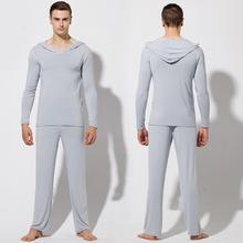 New 2014 plus size yoga sets men fashion long-sleeve yoga fitness lounge sleepwear mens cotton pajama sets- Free Shipping(China (Mainland))