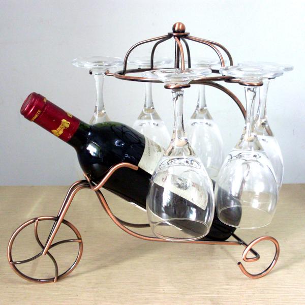 연철 세발 자전거 매달려 컵 와인 랙 와인 유리 걸이 서스펜션 ...