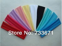 50pcs/lot Free shipping! Best for yoga/sports 13 colors 5cm can be mix Polyester women elastic headbands,hair accessories xth236