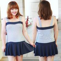 2014 swimwear bribed f55 hot spring female swimsuit mm plus size plus size dress one piece capris