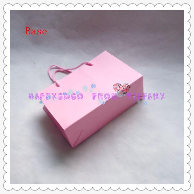 White Shopping Bag Black Handle Handle Small Shopping Bag