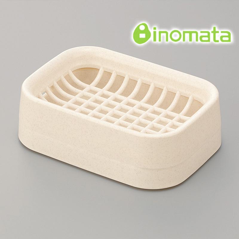 Japan imported authentic inomata bathroom bathroom soap dish soap box grid double draining soap dish soap dish(China (Mainland))