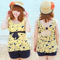 2014 swimwear bribed f40 hot spring female swimsuit mm plus size plus size dress split capris