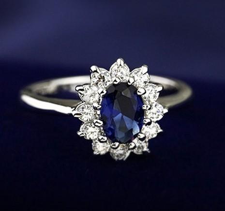 Classic diana ring fashion vintage royal Women 18k crystal(China (Mainland))