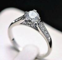 Korean ' above 50 artificial diamond ring platinum ring wedding ring