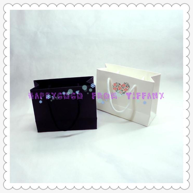 White Shopping Bag Black Handle Small White Shopping Bag