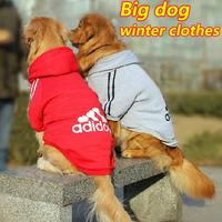 6pcs/lot Large Dog clothes Big Pet dog clothing winter coat dog hoodie apparel Wholesale