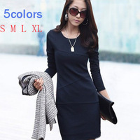 Spring 2014 new women's casual  dress women fashion clothing  long sleeve package hip sexy plus size club long dressess 1030