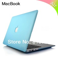 "For Macbook Air 11.6"" Case,Air 13.3"" Case,Rubberized Frosted Matte Protective cover,Show Logo Hole Backpack case,free shipping"