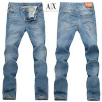 Aj fashion cow light color male fashion slim straight jeans  free shipping