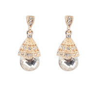 Europe And Western Style Fashion accessories vintage new elegant gem earrings banquet women's stud earring wholesale