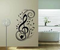 Unique Music Note  Vinyl Wall Sticker Decor  Room Home Decal  45*77 cm