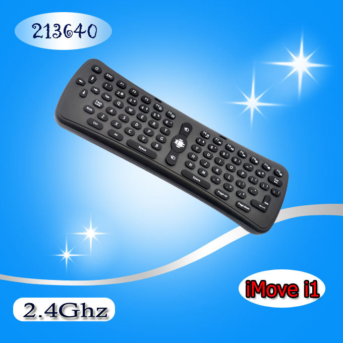 iMove 2.4Ghz Wireless Mini Gaming Remote Keyboard Gyro Fly/ Air Mouse with Qwerty Keyboard for TV BOX/PC/Tablet(China (Mainland))