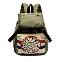 new 2014 casual women's colorful canvas backpacks women bag vintage college schoolbag