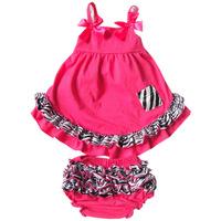 Retail New 2014 100% Cotton ruffle baby girl swimsuit