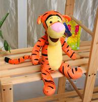Hot Sale In Stock 25cm Tiger Plush toy for children Kids favorite cartoon dolls Cute winnie friend tigger dolls