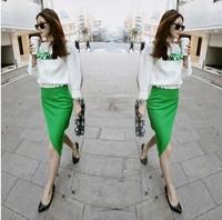 Spring 2014 one-piece dress female twinset one-piece medium-long long-sleeve dress skirt