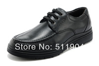 2014 new style men's black 100% Genuine Leather dress shoes  Round Toe Lace Up Leather oxfords Shoes
