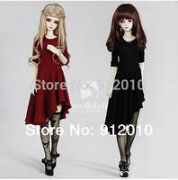 Fashion 1/3 ,1/4 BJD Oblique Hem Skirt Girl Dress LUTS.DOD.AS.SD Doll Clothing