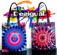 2014 NEW DESIGUAL Fashion womens Colorful Shoulder bag womens Messenger bag shopping bag  AA++++