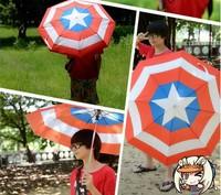 2014 NEW Style Free Shipping Captain America Shield the umbrella Anime peripheral   umbrella