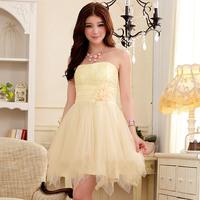 Free shipping 2013 sweet high waist skirt tube top dress ladies evening dress one-piece dress 9103