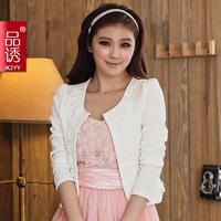 Free shipping Hot new arrival elegant 2014 all-match plus size cardigan cape wedding short jacket coat plus size clothing 601