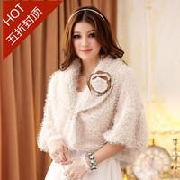 Free shipping 2014 sweet princess evening dress all-match wool shawl fur short jacket cardigan plus size clothing 505