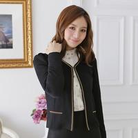 Free shipping 2014 plus size female slim all-match metal chain long-sleeve top cardigan short jacket cape wedding 91