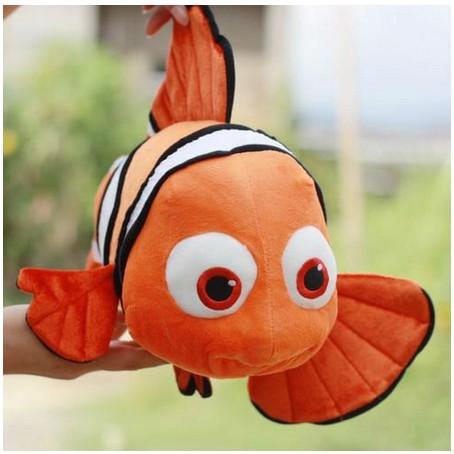 Retail 1Pcs Free Shipping Finding Nemo Movie Cute Clown Fish Stuffed Animal(China (Mainland))