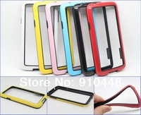 Free Shipping 2pcs/lot Anti-Skid Dual-color Frame Bumper Soft TPU silicon Protective Case Cover for Samsung Galaxy S5 i9600
