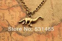 20pcs/lot dinosaur necklace,retro bronze Mini dinosaur,alloy necklace