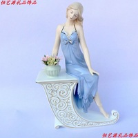 Charming Porcelain Girl Figure Handicraft Ornamental Furnishing for Wedding Decoration and Valentine's Day. Free Shipping