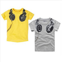 Retail New 2014 Boys' T-shirts boy cartoon T-shirt 100% cotton kids t shirt Children clothes  Yellow Free shipping T50