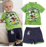 NEW  free shipping boys 2pcs set kids fashion sport suit Children's sets children suit sets short sleeve t shirts +pants