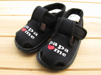 2014 summer baby sandals shoes skidproof child toddler shoes female sandals soft outsole black male child sandals
