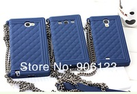 New 10pcs/lot Diamond shape plaid Chain Handbag Soft Silicone bags case cover for Samsung Galaxy Note II N7100 S3 i9300 S4 i9500