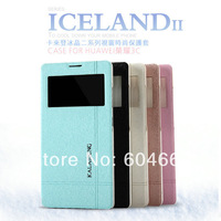 Free shipping Original Kalaideng Iceland series Flip Leather case For Huawei Honor 3C slim flip cover + retail box