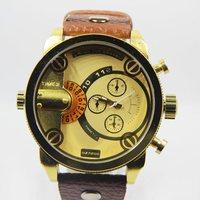 Sales! Top brand dz men sports watches gold time zones quartz watch fashion business hours military watch men Wristwatch reloj