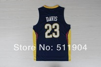 Sale Promotion+Free shipping Cheap BLUE 23 DAVIS new material game Basketball jerseys high quality