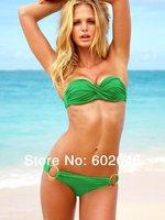 New in 2014 women sexy swimwear print bikinis set free shipping