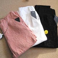 2014 new hot fashion women's lace European casual fashion pants cute trousers capris leg stretch pencil pants