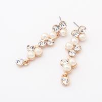 Elegant Simple and Easy Pearl Long Dangle Earrings Beads New