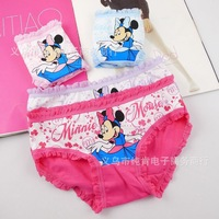 cartoon children's underwear Bud silk cotton briefs underwear for girls free shipping 12pcs/lot kids pants