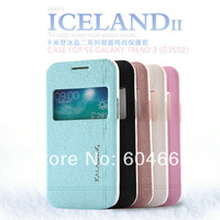 Free shipping Original Kalaideng Iceland series Flip Leather case For Samsung Galaxy Trend 3 G3502 slim flip cover + retail box