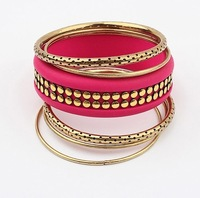 Free Shipping! Europe and  United States Retro Personality Punk Rivet Multilayer Bracelet  For Women D167