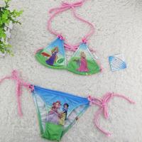 Girls bikini swimwear suit set  2014 New Summer Cartoon Snow White Princess swimsuits for baby girl costume Kid swimwear Clothes