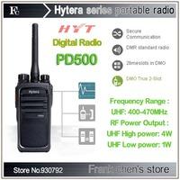 Walkie Talkie Hytera 4Watt UHF Commercial Digital Portable Two-way Radio PD500 Free Shipping