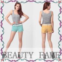 2014 new brand candy color jeans women denim sport shorts pant hot pants denim shorts for women
