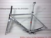 Silver Colnago M10 Carbon Road Frame Colnago Carbon Bike Frame Complete carbon fiber framework